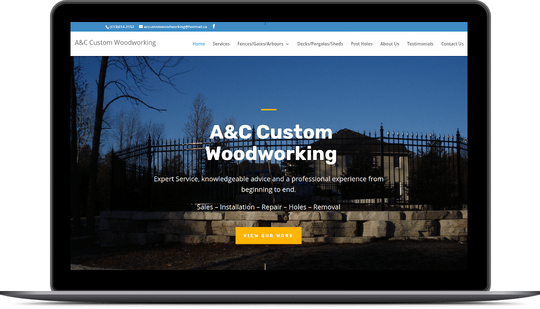 A&C Custom Woodworking – WordPress Theme Development