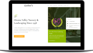 Gerbers Nursery – WordPress Theme Development