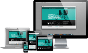 WordPress theme responsive design on laptop